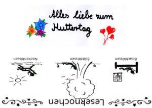 Muttertag Banderole für Leseknochen