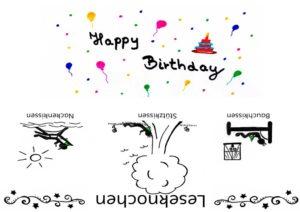 Geburtstag- Happy Birthday Leseknochen Banderole