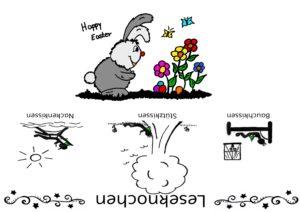 Happy Easter Banderole für Leseknochen