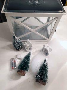 Weihnachtslaterne Materialien